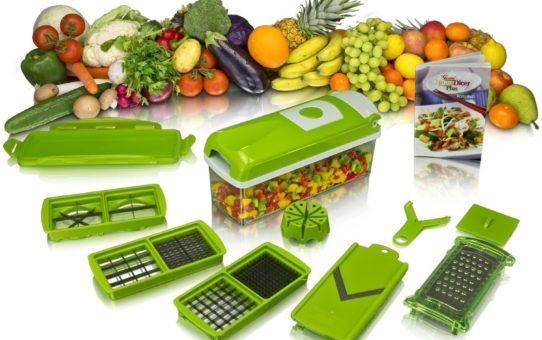 Zebra Kitchen Dicer Plus, Green White (Set of 9)(Green)