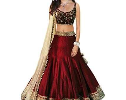vaankosh fashion women red bollywood style lehenga/partywear lehenga/heavy embroidred bridal lehenga