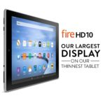 Fire HD 10 Tablet, 10.1″ HD Display, Wi-Fi, 16 GB – Includes Special Offers, Silver Aluminum