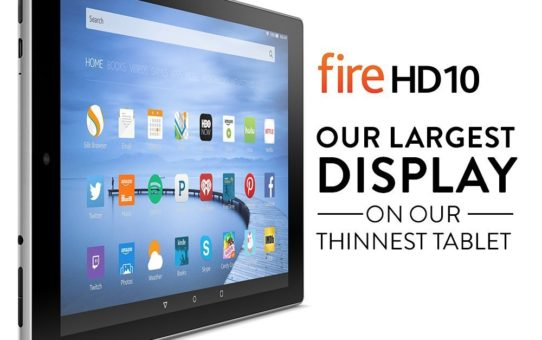 "Fire HD 10 Tablet, 10.1"" HD Display, Wi-Fi, 16 GB - Includes Special Offers, Silver Aluminum"