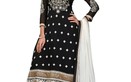 DivyaEmporio Women's Faux Crepe Salwar Suit Dress Material