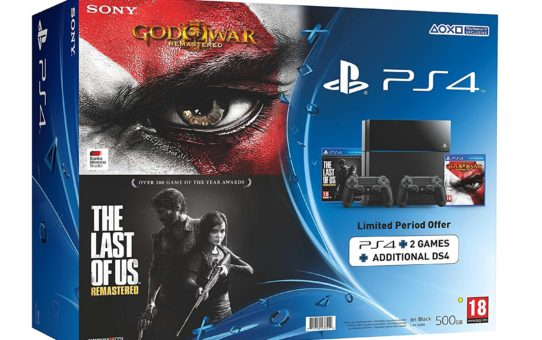 Sony PlayStation 4 500GB Console (Free Additional Controller plus 2 Games)