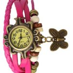 Romero Fancy Vintage styled Rakhi butterfly watch collection – Suitable for Rakshabandhan or any occasion return gift to sister (Pink)