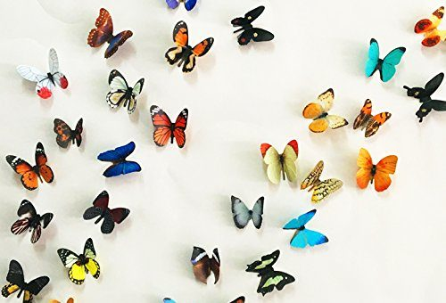 Combo Pack 38 pcs Multicolor 3D PVC Butterflies' Wall Sticker Decal For Home Decor of 38 pc (2 sheet)