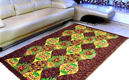 "Home Elite Floral Floral Microfibre Anti-Allergic Carpet - 55""x80"", Multicolour"