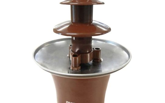 Mini 3-Tier Chocolate Fountain Machine for Household Birthday Party Brown