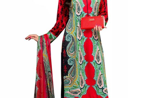 Rosaniya Un stitched Long Digital Printed Woolen salwar suit for Women with Pure Chiffon Dupatta (TGW5204)