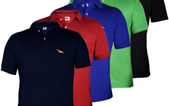 PRO Lapes Men's Multicolor Polo T-Shirt Set of 5