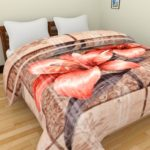 Axcellence Multi Color Premium & Ultra Soft Double Ply Double Bed reversible Mink Blanket – 4+ Kg