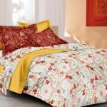 Ahmedabad Cotton Comfort Cotton Double Bedsheet with 2 pillow covers