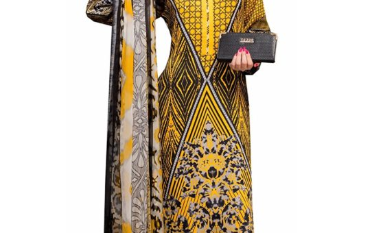Rosaniya Un stitched Long Digital Printed Woolen salwar suit for Women with Pure Chiffon Dupatta (TGW5206)