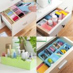 Lifestyle – You 8 Pcs Undergarments Innerwear Drawer Organiser Partition Box (Multicolor)