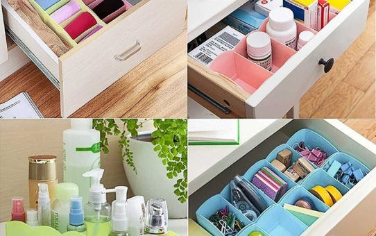 Lifestyle - You 8 Pcs Undergarments Innerwear Drawer Organiser Partition Box (Multicolor)