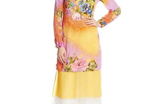 Rain and Rainbow Women's Straight Kurta (5095-15/71-14_YELLOW _XX-Large)