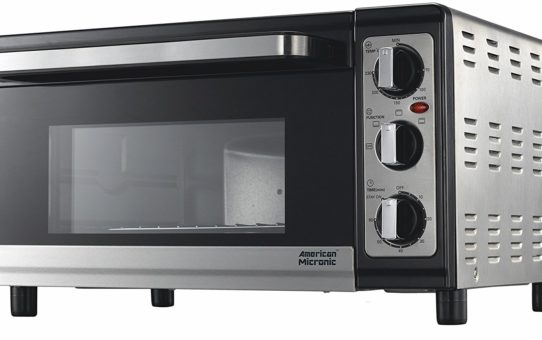 AMERICAN MICRONIC - 25 Liters Imported Oven Toaster Griller (OTG), 230V AC, 1500W, 60 Minutes timer, Variable temperature control. FREE Baking Tray, Wire Rack- AMI-OTG-25LDx-B