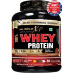 MuscleXP 100% Whey Protein – 2Kg (4.4 lbs), Double Rich Chocolate – The New Whey Standards