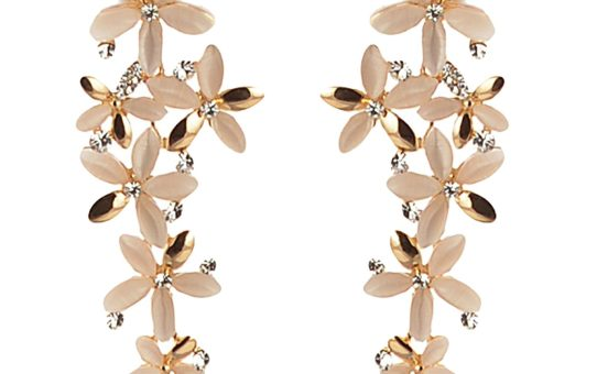 Zephyrr Golden Stones Dangle & Drop Earring for Women