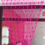 Handloomwala Beautiful Pink Summer Heart Net Curtain