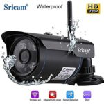 Sricam SP007 Wireless Waterproof Outdoor WiFi HD 720P Security CCTV Ip Camera [Black]