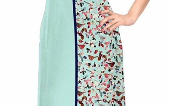 ZIYAA Multi Color Cap sleeve and Boat Neck Faux Crepe Kurti