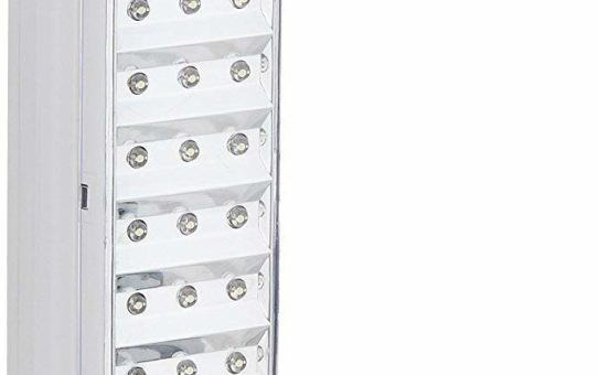 Qualimate_714 Portable Rechargeable LED Emergency Light - White