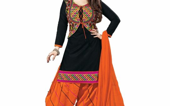 Divyaemporio Women's Cotton Resham Anarkali Unstitched Salwar Suits Dress Material