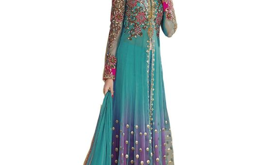 New India Stylish Designer Bollywood Party Anarkali Suit Salwar Kameez Dress Women.1570