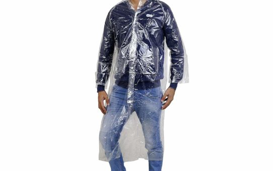 Zacharias men rain coat transparent (Pack of 1)