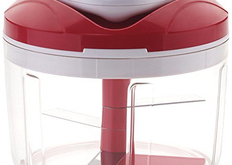 Ganesh Easy Pull Smart Plastic Chopper, 650ml/125mm, Red
