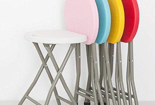 Parasnath Folding Plastic Stool (Color Randomly Selected)