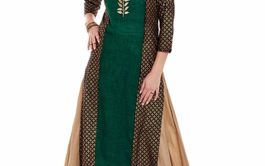 Varanga Green Cotton Embroidery Kurta KFF-VAR21152