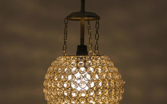 Homesake A526 Crystal Pendant Hanging Lamp (Gold and Silver)