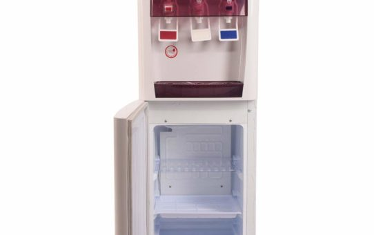 Blue Star H Series Water Dispenser with Refrigerator (White and Coffee)